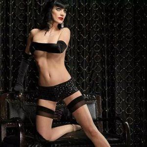 Leg Avenue | Black Sequin Booty Short | S